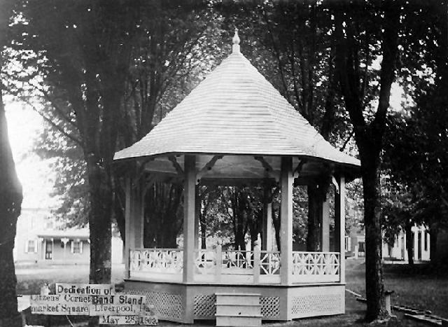 The band stand (gazebo) dedicated in 1902