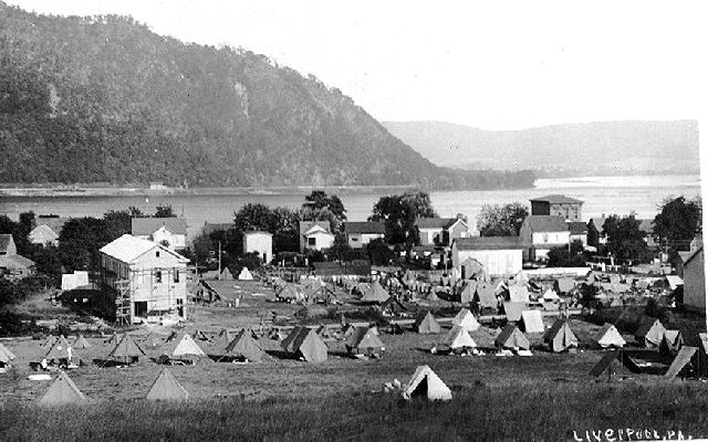 Infantry encampment 1910
