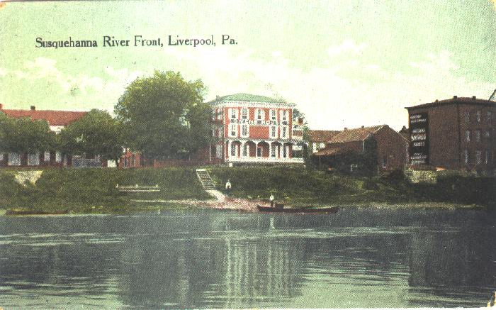 Owens House from the river 1912